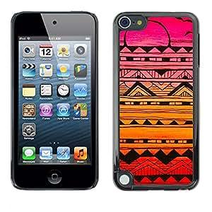 For Apple iPod Touch 5 Case , Birds Pattern Hand Drawn Art Pen - Diseño Patrón Teléfono Caso Cubierta Case Bumper Duro Protección Case Cover Funda