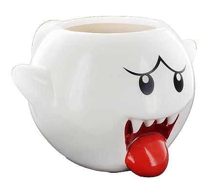 amazon com super mario bros 20oz boo molded coffee mug kitchen