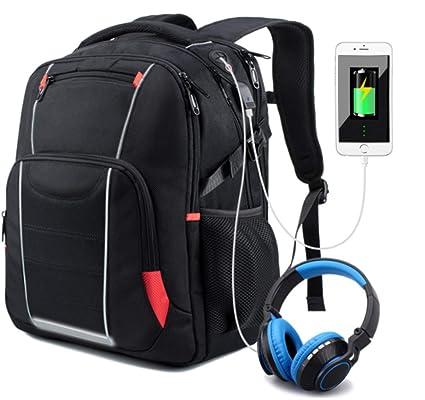 comprare on line 5569c c459b Meisohua Zaino Porta PC 17 Pollici Viaggio,Zaino Impermeabile USB  Antifurto,Zaino Laptop da università Multifunzionale Zaino Business Grande  Capienza ...