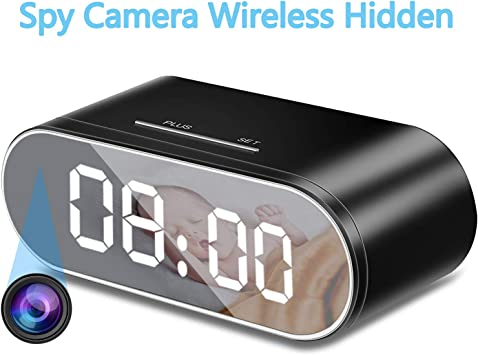 Wireless Security Camera Nanny Clock Motion Activated IR 1080P HD