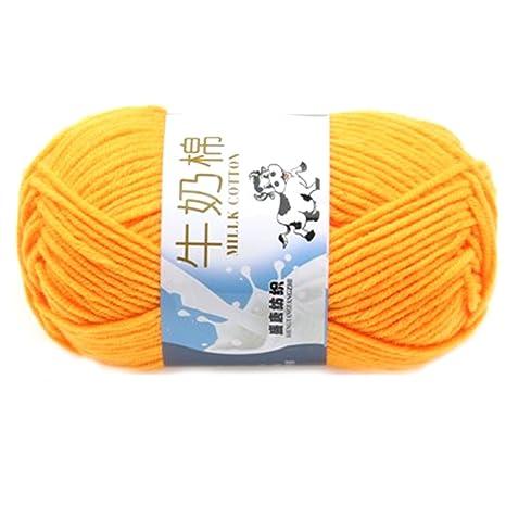 Suave Suave Leche de algodón natural de la mano de tejer lana de lana bola del