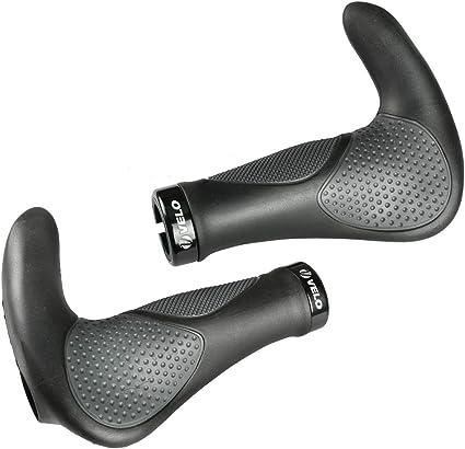 Black//Grey Ergon GP3 138mm VELO MTB City Road Bike Handlebar Bar End Grips