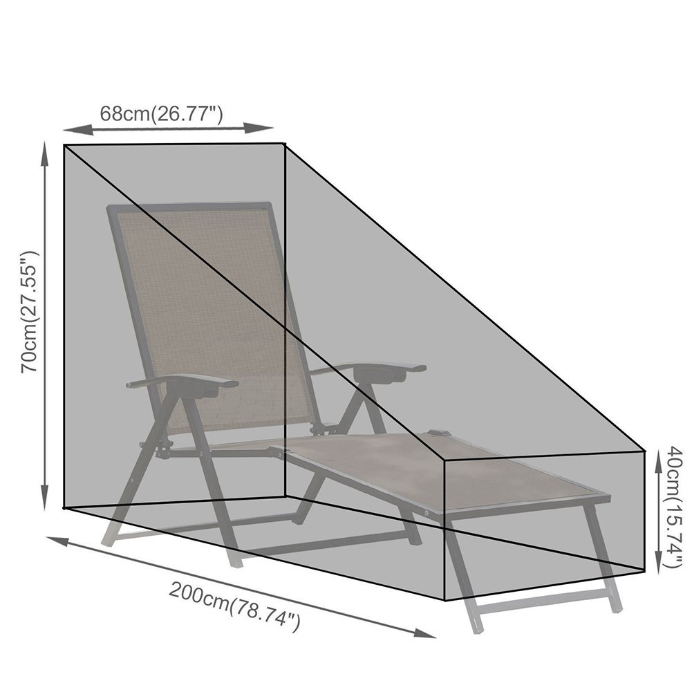 Leiyini Patio Chaise Lounge Cover Durable Outdoor Chaise Lounge Cover Furniture Cover with Durable and Water Resistant Fabric by Leiyini (Image #7)