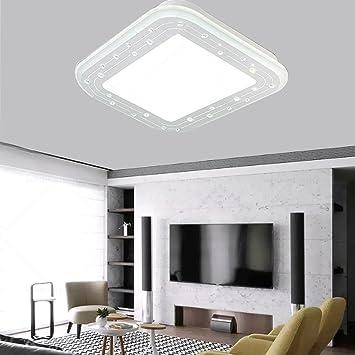 LIXIONG Einfache Moderne Quadratische LED Kristall Verstellbare Acryl Deckenleuchten Wohnzimmer Schlafzimmer Kreative Mode Art