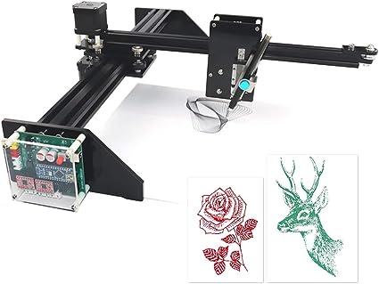 HUKOER Robot de Dibujo/Escritura Trazador XY DIY Alta Precisión, Utilizado como Robot de Pintura Robot de Escritura a Mano con Función de Grabado Láser 500 MW: Amazon.es: Bricolaje y herramientas