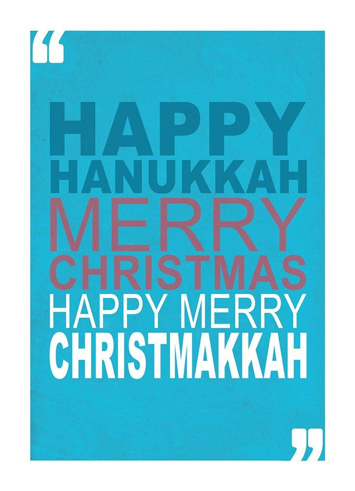Tree-Free Greetings Hanukkah Cards and Envelopes, Set of 10, 5 X 7-Inch, Christmakkah (HB93352) Tree-Free Greetings Canada