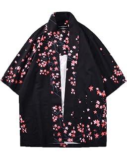 Shaoyao Hombres Cárdigan Chaqueta De Kimono Japonesa ...