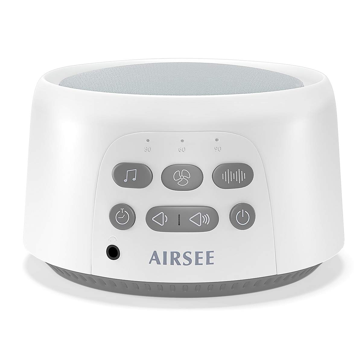 AIRSEE White Noise Machine - Portable Sound Machine for Sleeping with High Quality Speaker, 7 Natural and Soothing Sounds, Baby Sound Machine, Portable Sleep Sound Therapy for Home, Baby