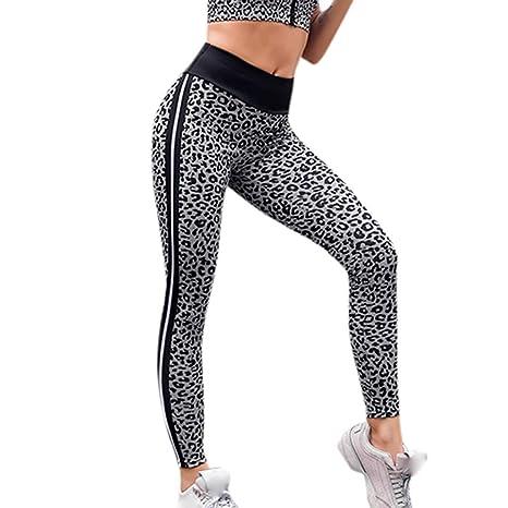 02fd3edf0d0990 Women Yoga Leggings, High Waist Yoga Pants Leopard Print Legging Running  Sports Pants Trouser Gym Exercise & Fitness,Walking,Cycling, Bowling:  Amazon.co.uk: ...