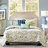 Madison Park Tamira 6 Piece Quilted Coverlet Set, Queen, Multicolor