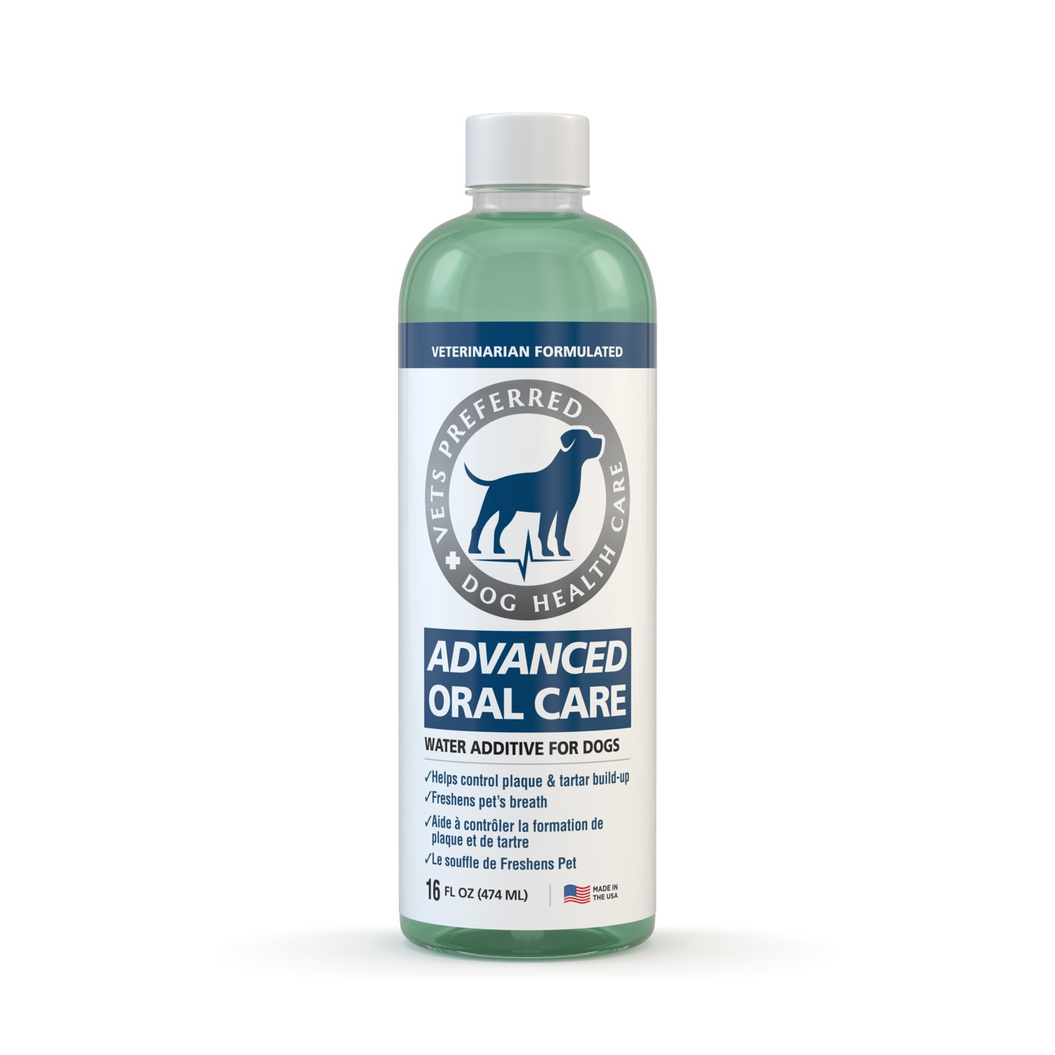 Advanced Oral Care for Dogs (& Cats) - Veterinarian Grade, Premium Solution for Bad Breath Dogs - Controls Plaque, Tartar, Gum Disease With Less Brushing! Simple Water Additive for Dog Oral Care