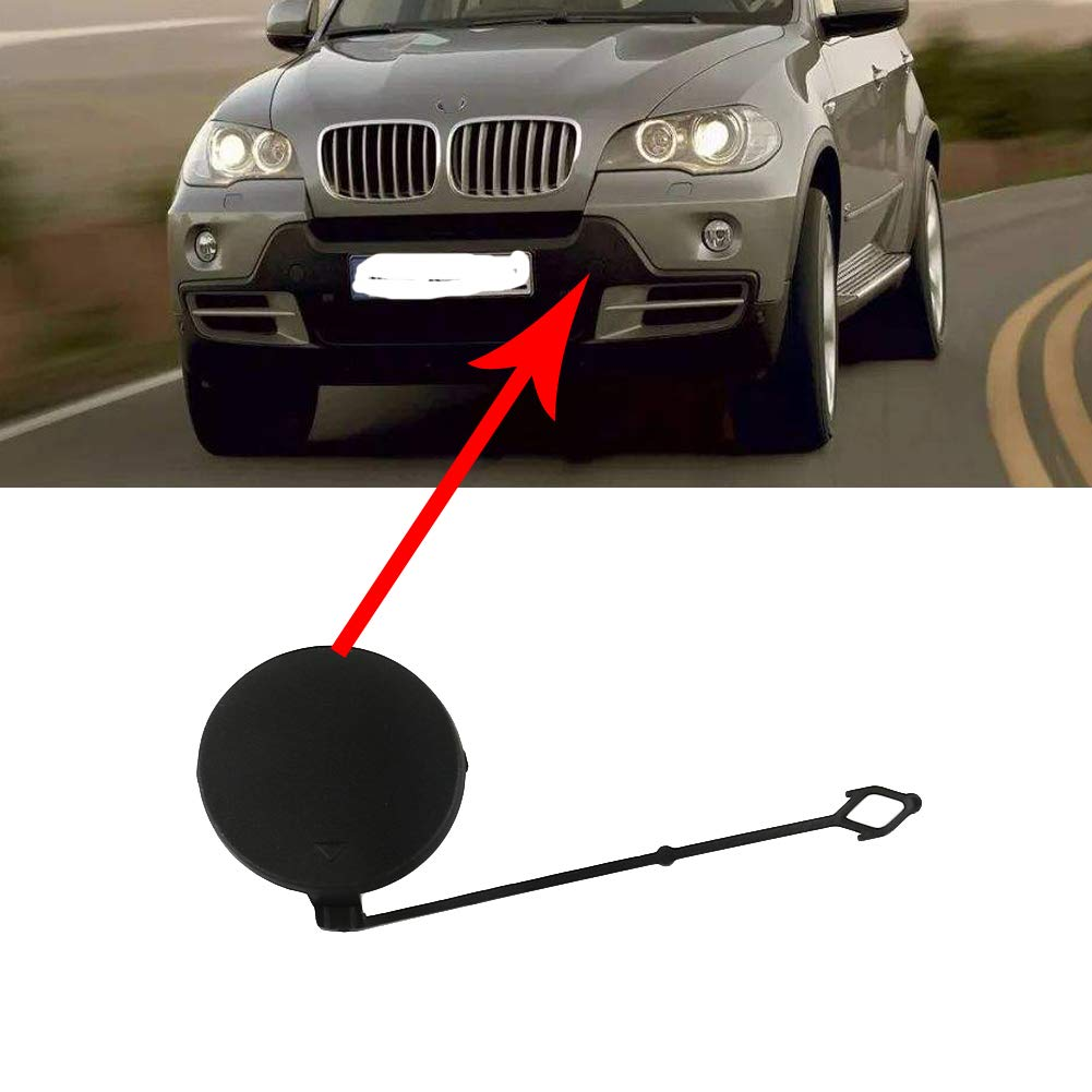 UPSM Front Bumper Tow Hook Cover Cap Left Fit for 2007 2008 2009 2010 BMW X5 E70 Towing Eye Cover Trailer Cap 51117159589