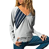 succeedtop Loose Tops Blouse Women Ladies Striped