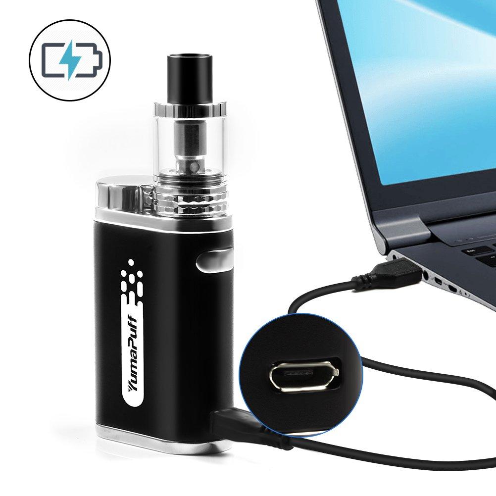 E Cigarette, 1800mah recargable, Recarga superior Electonic Cigarette No E Liquid, Nicotine Free (Black)