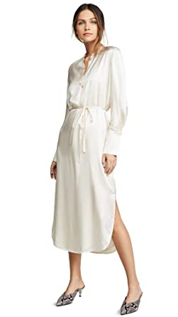 53ff5c06b1c Amazon.com  Vince Women s Band Collar Shirtdress  Clothing