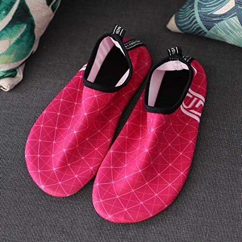 HYH [赤の広場]夏の男性と女性のビーチシューズ滑り止め汗吸収スイムシューズアウトドアスポーツシューズアンチカットシューズマルチコード いい人生 (色 : Red, Size : US5)