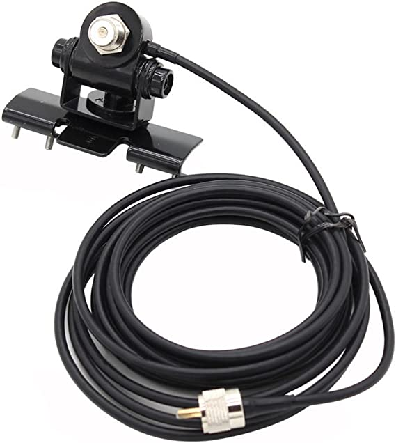 5M PL259 Conector Extiende Cable de alimentador de Cable para Radio movil TH-9800 BJ-218 KT8900 TOOGOO Soporte RB-400 Antena de Coche Monte