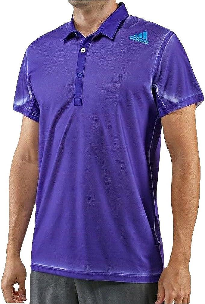 adidas Adizero Short Sleeve Mens Tennis Polo Shirt - Purple-S ...