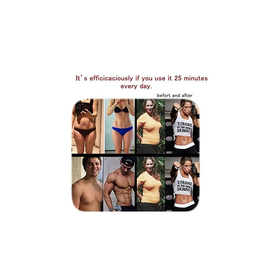 Jannychen New Version 2017 Abdominal Toning Belt, Waist Trimmer Belt, ABS Toner Body Muscle Trainer, Abs Fit Training, Unisex Fitness Training Gear, Home Fitness Training (Abs fit+Body fit)