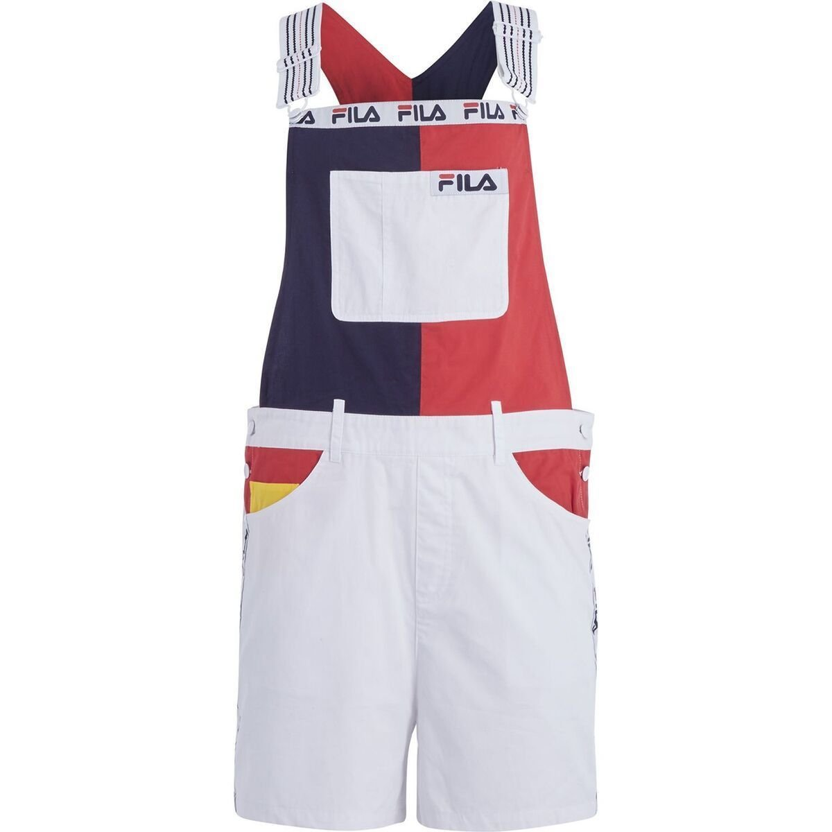 Fila Women's Girls Colour Block Printed Dungarees/Shorts
