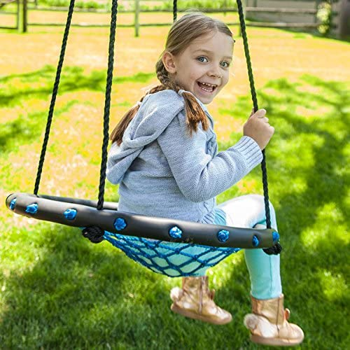 Fat Brain Toys Small Net Swing – Swing-A-Ring – Small Active Play for Ages 3 to 8