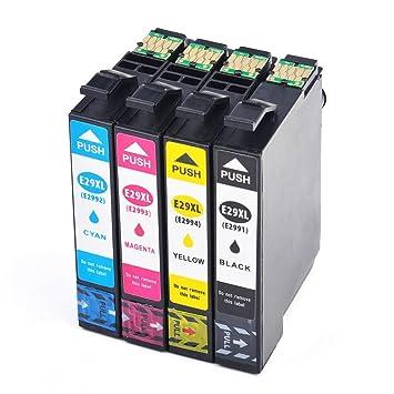 4X Caidi con Nuevo Chip actualizado Epson 29 XL Cartuchos de Tinta ...