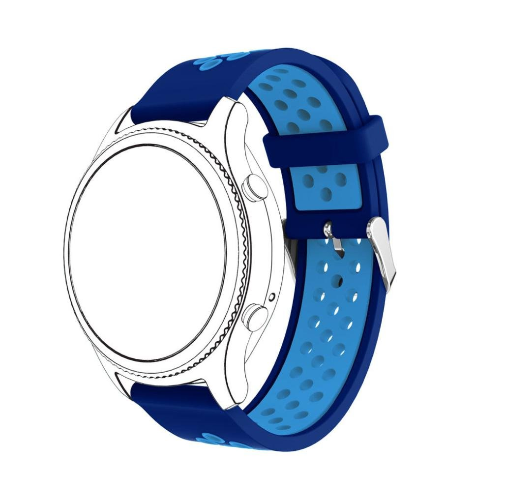 mostsola新しいファッションシリコンブレスレットストラップBand for Samsung Gear s3クラシック Blue/Light Blue Blue/Light Blue Blue/Light Blue B07BXSZB8Q