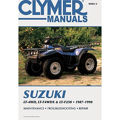 1987-1998 CLYMER SUZUKI ATV LT-4WD, LT-F4WDX & LT-F250 SERVICE MANUAL NEW M483-2