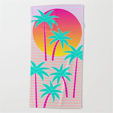 ewtretr Hello Miami Sunset Beach Towel 31x51 Inches ...