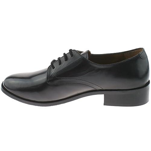 Grafters - Zapatos de cordones para mujer, color negro, talla 35.5