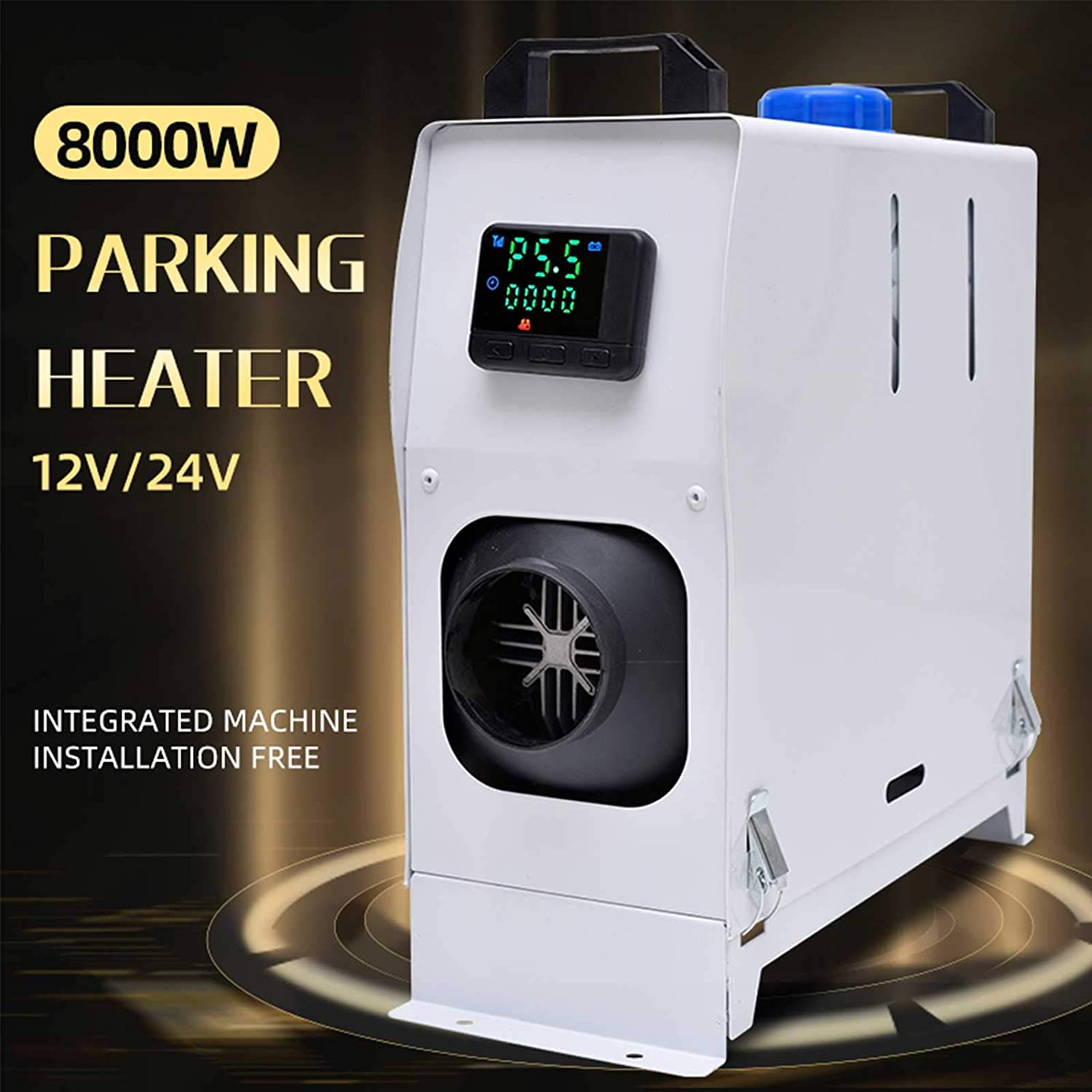 Blue Integration four holes Air Diesels LCD Screen Switch Diesel Parking Heater Air Outlet Diesel Heater For Trucks Motor-Homes Boats Bus Ankishi 5KW 12V Diesel Air Heater