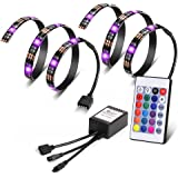 Vansky Bias Lighting for HDTV USB TV Backlight RGB LED Neon Accent Lighting Kit for Flat Screen TV LCD with Remote Control,2 RGB LED Strip(Reduce eye fatigue and increase image clarity)