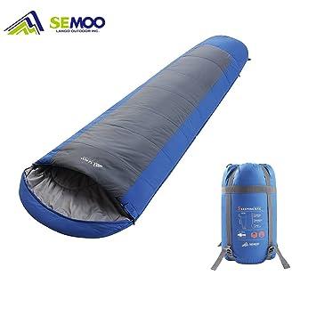 semoo momia saco de dormir 200 x 75 cm, 3/4 estaciones (de