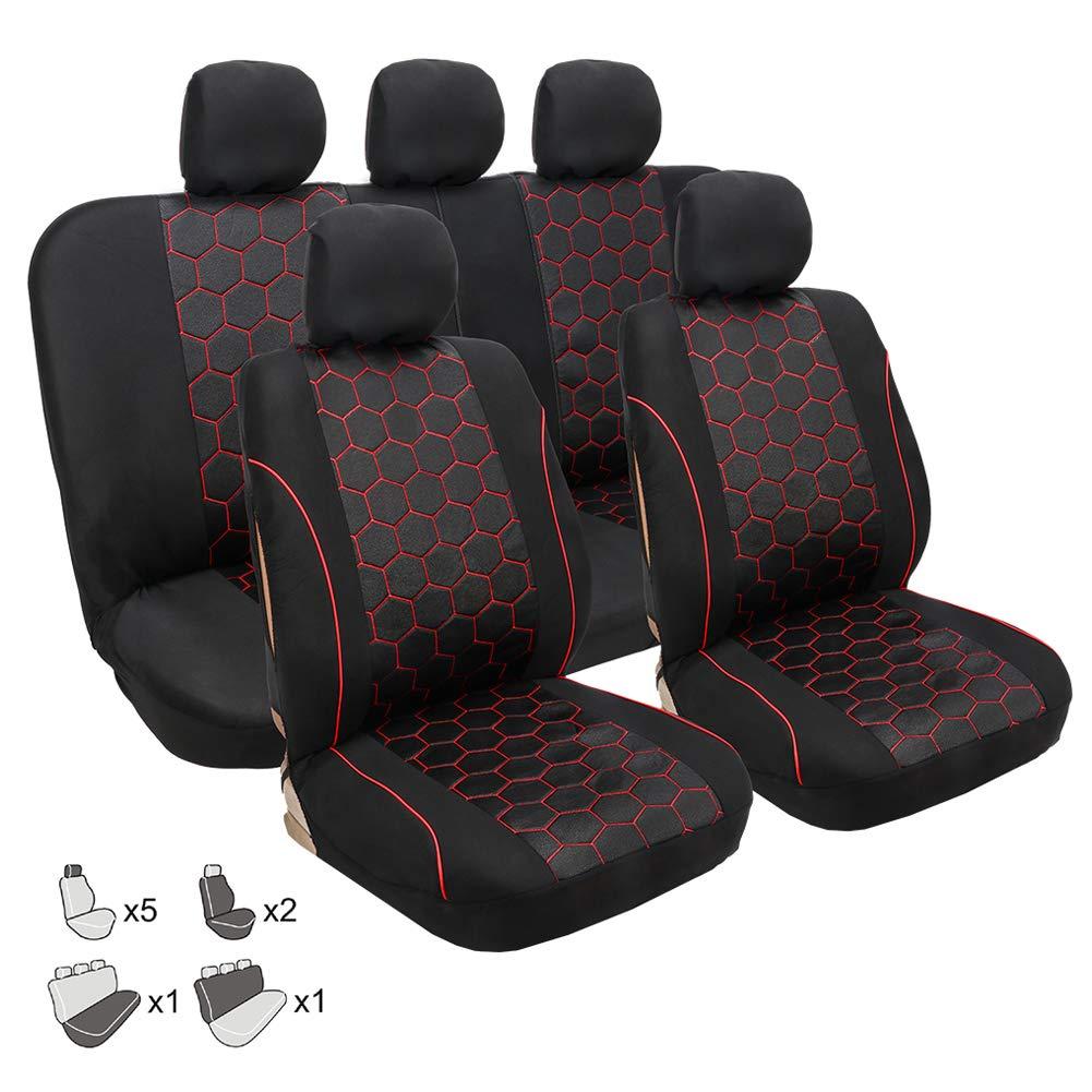 Fundas protectoras para asientos de coche, accesorios para el interior del coche, color negro Walking tiger