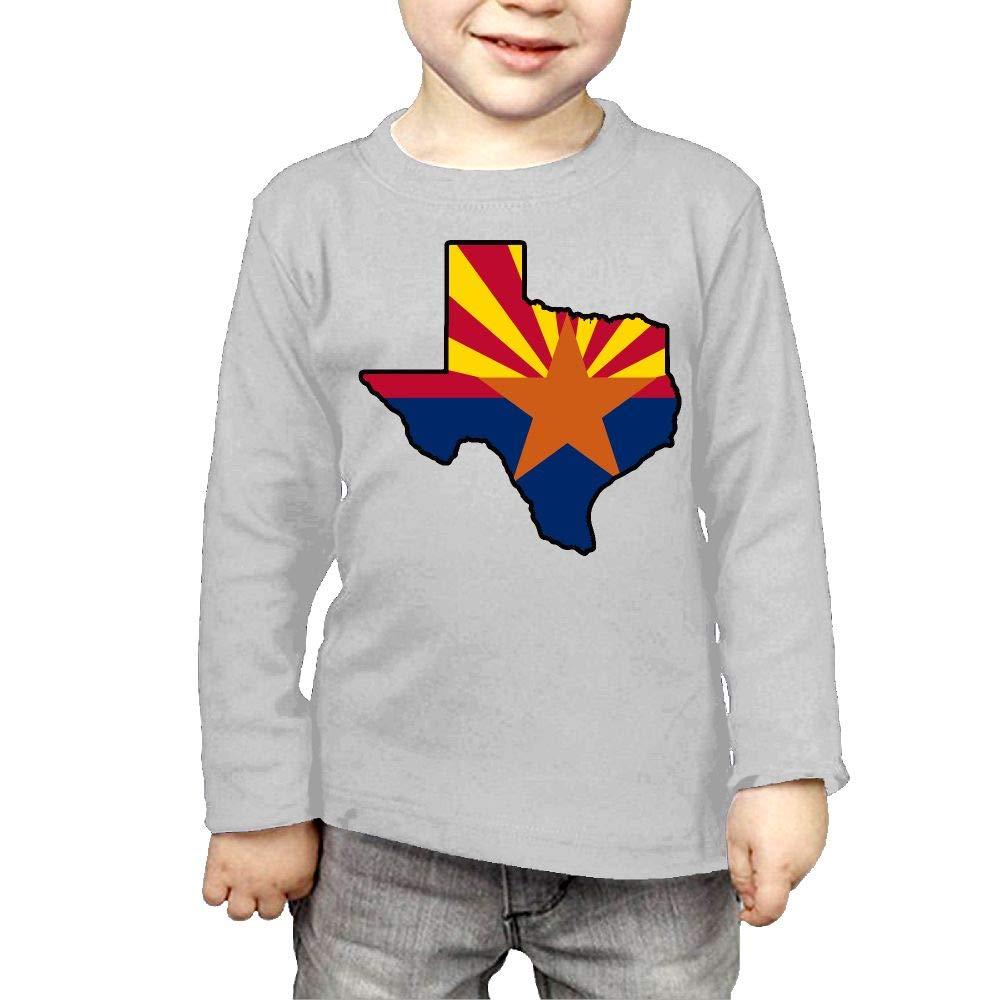 Baby Girls Kids Arizona Flag Texas Map ComfortSoft Long Sleeve T-Shirt
