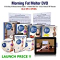 Morning Fat Melter Workout Dvd For Women – 2 Months Weight Loss Program To Lose 30 Lbs - 18 Workout Videos + 60 Days Pdf Meal Plan + Our Pdf Manuals on 2 Exercise Dvds – Beginner & Advanced