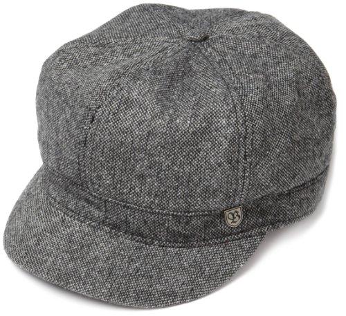 Brixton Men's Bridge Cap, Black/White Tweed, M