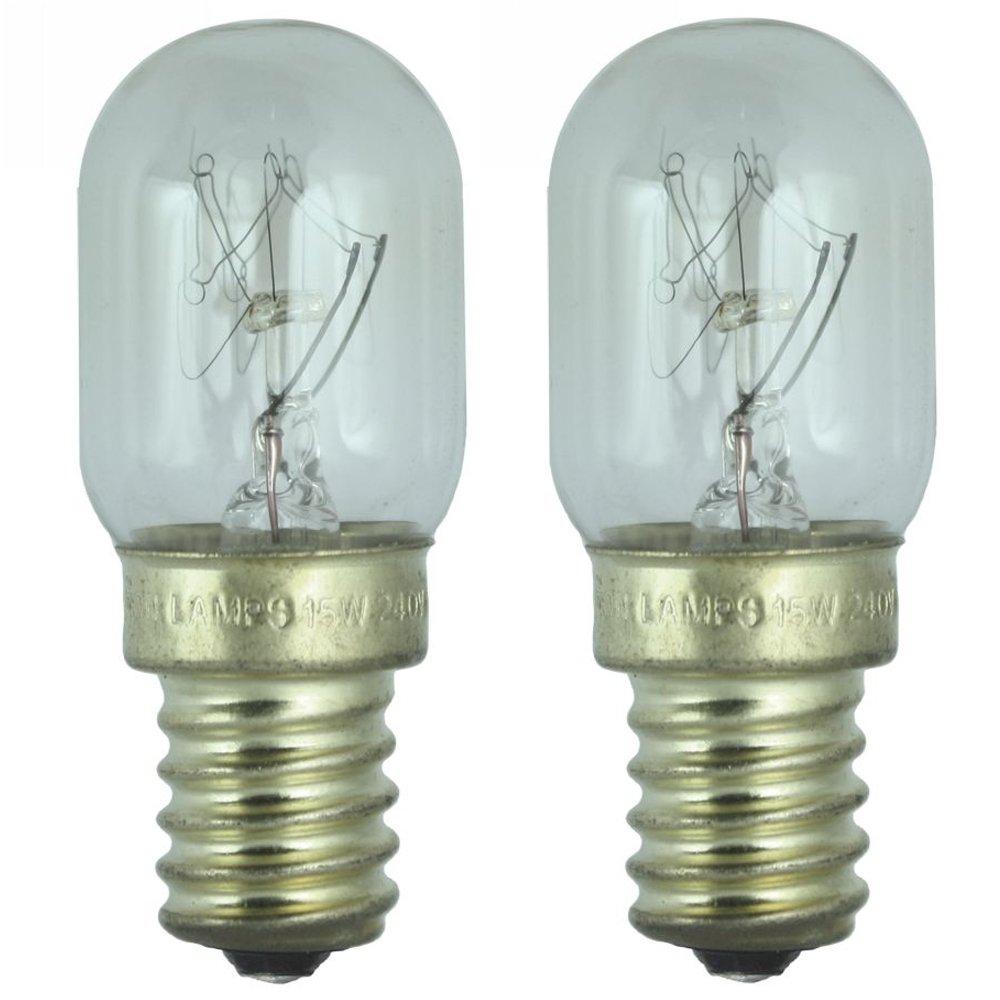 2 x Lampe de réfrigérerateur 15W pour usage dans un frigo Bosch. 240v. Ampoule à SES (E14) petit vis Edison Dependable Trading Ltd