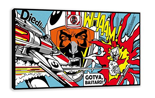 WHAAM! STAR WARS ROY LICHTENSTEIN STYLE POP ART CANVAS WALL ART (44
