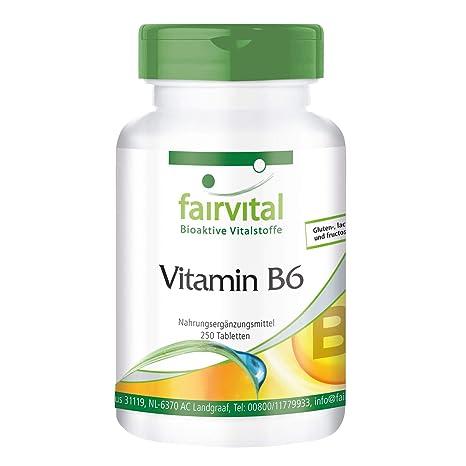 Vitamina B6 - VEGANO - 250 Comprimidos - 22,5mg Piridoxina