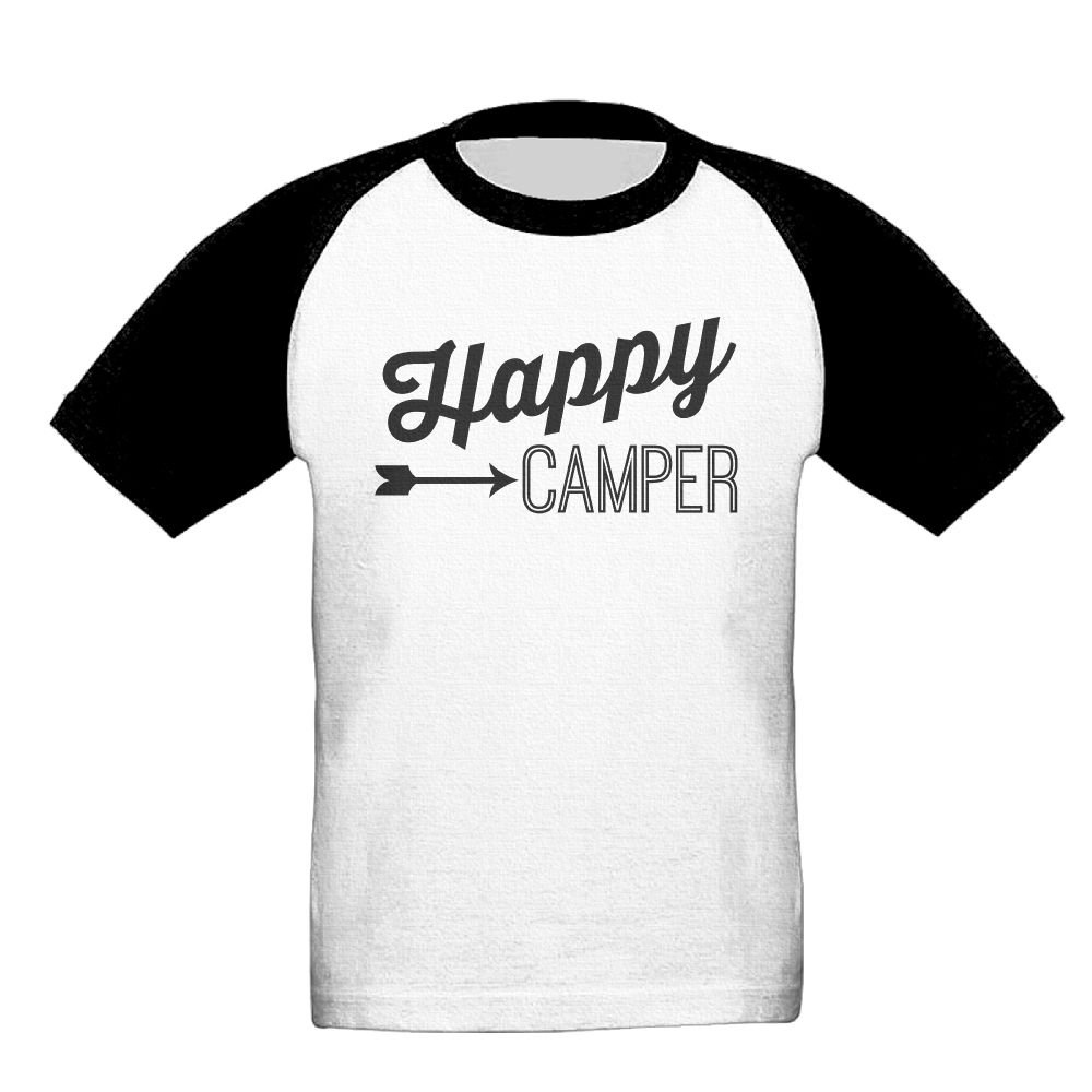 Happy Camper Unisex-Child T Shirt Baby Toddler Tee Round-Neck Short Sleeve Shirt