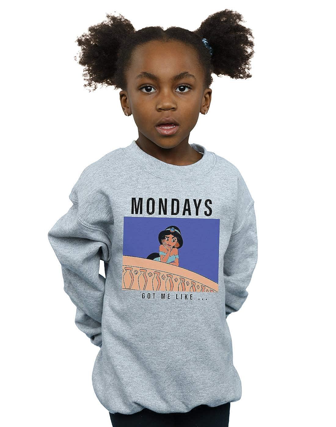 Disney Princess Girls Jasmine Mondays Got Me Like Sweatshirt