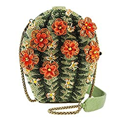 Cactus Flower Beaded Handbag