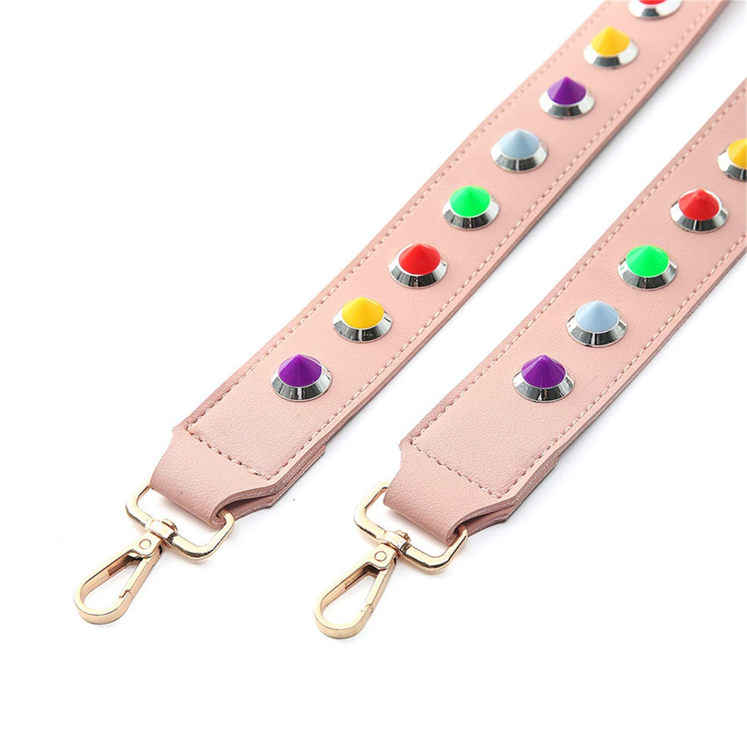 Anhon Diy Handbag Strap Pu Leather Diamonds Ladies Crossbody Bag Belts Replaceable Long Wide Shoulder Straps Hook,Bag Strap Style 4,Onesize