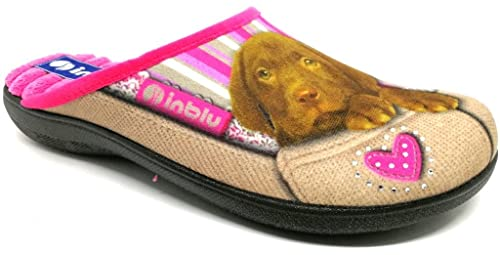 INBLU Pantofole Ciabatte Invernali da Donna Art. Bq-131 Tortora (35) 9b7ecd395d2