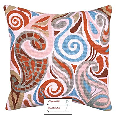 Design Works - Paisley (2564) Needlepoint Kit with Acrylic Yarn - Picture or Pillow - 12 by 12 inches - with Gift Card