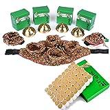 BITA Four Together Moxa Rolls Sticks for Whole Body Moxibustion Acupoint Moxa Box 54PCS 5 Years Moxa Cone (4#)