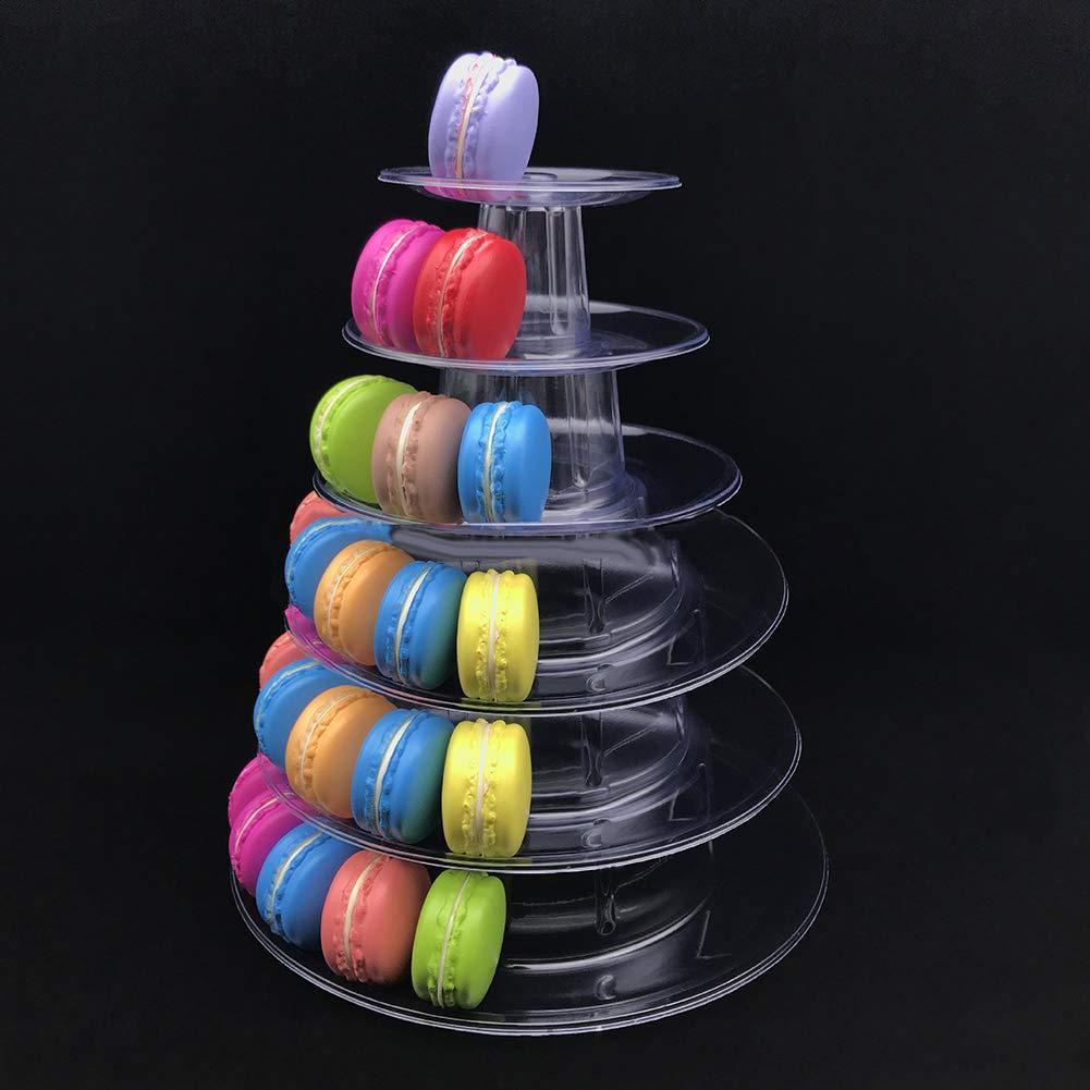 YUnnuopromi 6 Tier transparente Macaron Dessert Display Stand Hochzeit Geburtstags Party liefert Transparent