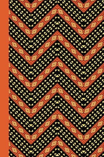 Journal: African Pattern (Orange) 6x9 - LINED JOURNAL - Journal with lined pages - (Diary, Notebook) (Patterns & Designs Lined Journal Series)