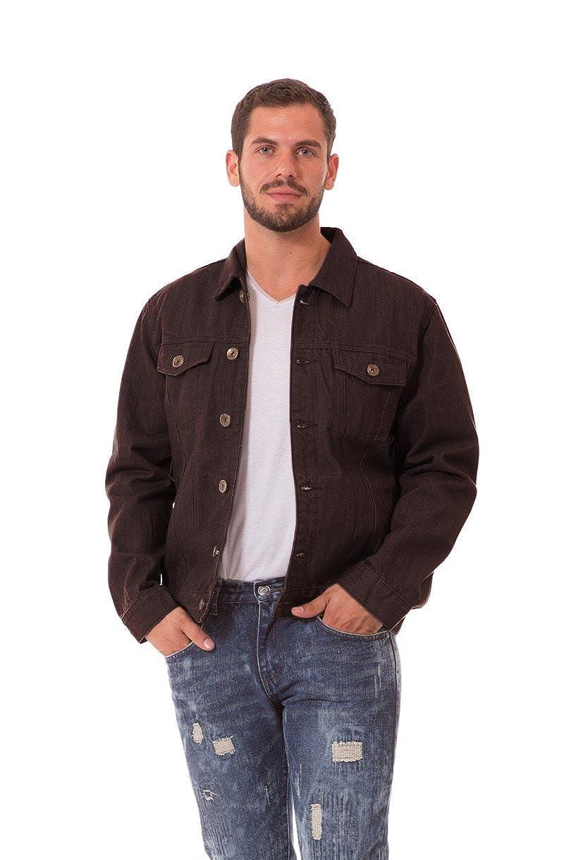 Agile MEN'S Rinsed Wash Denim Trucker Barnes Jacket at Amazon ...
